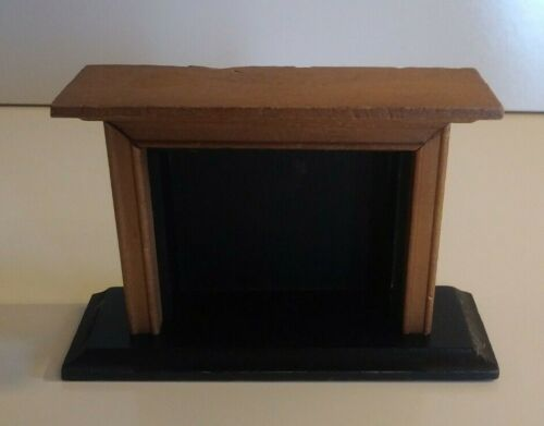 Vintage Dollhouse Miniature Furniture Wooden Fireplace
