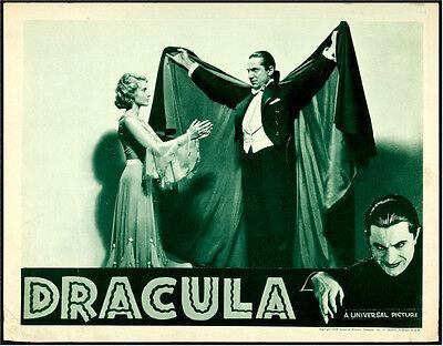 DRACULA ORIGINAL VINTAGE LOBBY CARD MOVIE POSTER BELA LUGOSI '38