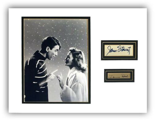 "JAMES/JIMMY STEWART & DONNA REED Signed/Autograph  ""It"