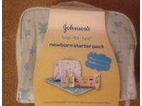 JOHNSONS TOP TO TOE NEWBORN STARTER PACK-BRAND NEW