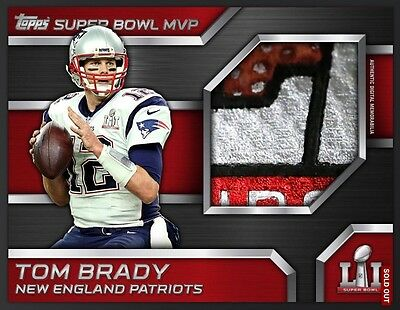 Tom Brady Super Bowl Mvp Jersey Relic Topps Huddle Digital New England Patriots