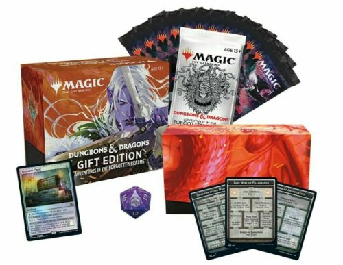 Forgotten Realms Gift Bundle Edition MTG Draft booster and Collector Pack Set