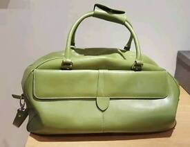 Green leather weekend bag (M and S)