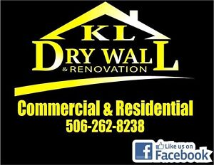 KL Renovation and Drywall save on spring bookings
