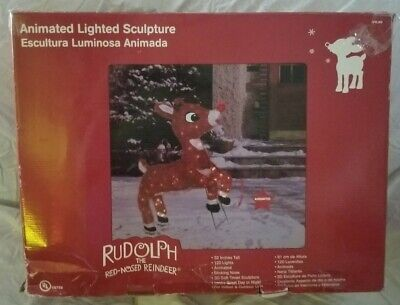 """Vintage Rudolph the Red-Nosed Reindeer 32"""" Animated Outdoor Christmas Decor"""