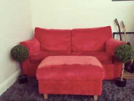 Sofa (Sofa Bed) with matching futon footrest