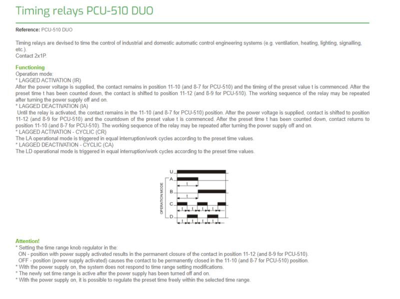 F/&F PCU-510DUO Zeitrelais verzögertes Ausschalten Einschalten zyklischer Betrieb