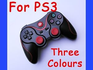 Wireless Doubleshock Bluetooth Controller Gamepad for SONY PS3 Red Stripe