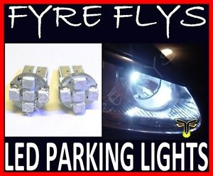 White-5-LED-Parking-Lights-T10-168-2825-W5W-HID-Xenon-City-Position-bulbs-z1