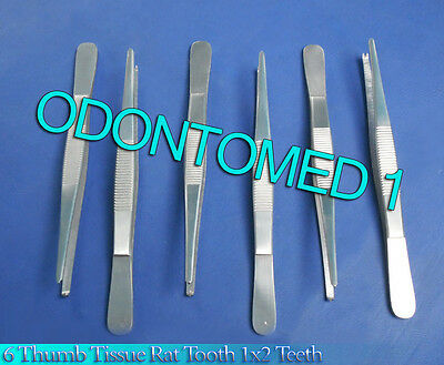 6 Thumb Tissue Forceps 6.00 1x2 Teeth