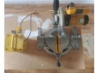 Dewalt chop saw 110v with 2 plug transformer and sold folding table...all perfect..