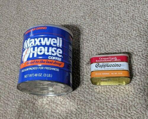 Maxwell House General Foods International Coffee Tin Vintage Lot