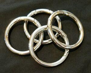 MICHE~4 Accessories Silver Carabiner Push Open Rings 1