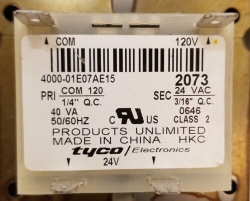 Products Unlimited Transformer 120v Primary 24v Seconday