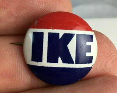 "1950's IKE 3/4"" Campaign Pin Button Pinback Authentic Nice I LIKE IKE -"
