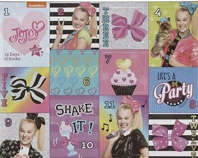Nickelodeon JoJo Siwa Girls 12 Days Of Socks..Shoe Size 10.5-3. NEW!!!!