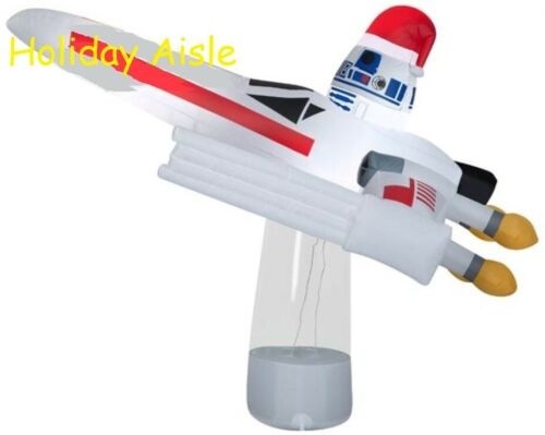 7 Ft STAR WARS R2D2 IN X-WING TIE FIGHTER Airblown Lighted Yard Inflatable
