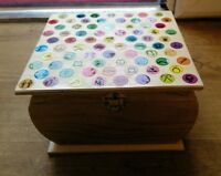 Brand Unique Hand Decorated Wooden Jewellery Box - See Pics - unbranded - ebay.co.uk