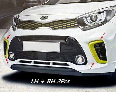 OEM AirDuct Front Bumper Lh/Rh 2P 86541G6300LE7 Yellow for KIA Picanto 2017~2019