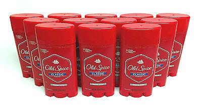 12 Old Spice Classic ORIGINAL SCENT Deodorant for men 3.25 oz ea