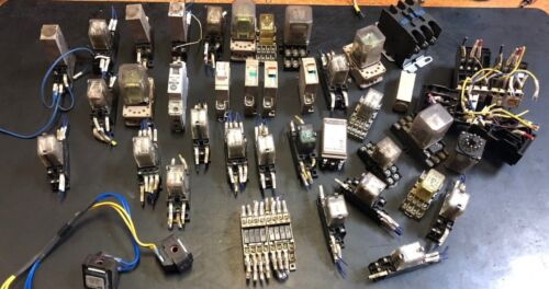 Large Lot of OMRON ALLEN BRADLEY + OTHER Timing Relays and relays