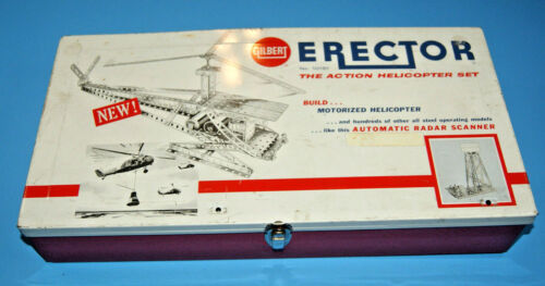 AC Gilbert Erector Set Case ONLY 10181 Action Helicopter Set 1950