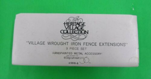 Dept. 56 Village Wrought Iron Fence Extension - 9 Piece Set - #55158 - VERY GOOD