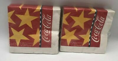 Vintage 1988 Coca Cola Cocktail Napkins Lot of 2 Packs of 24 Each