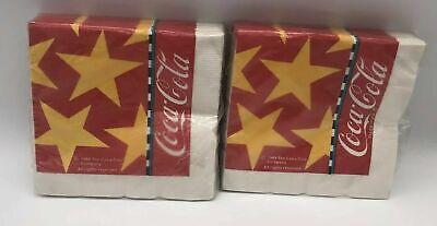 Vintage 1988 Coca Cola Cocktail Napkins Lot of 2 Packs of 24 Each