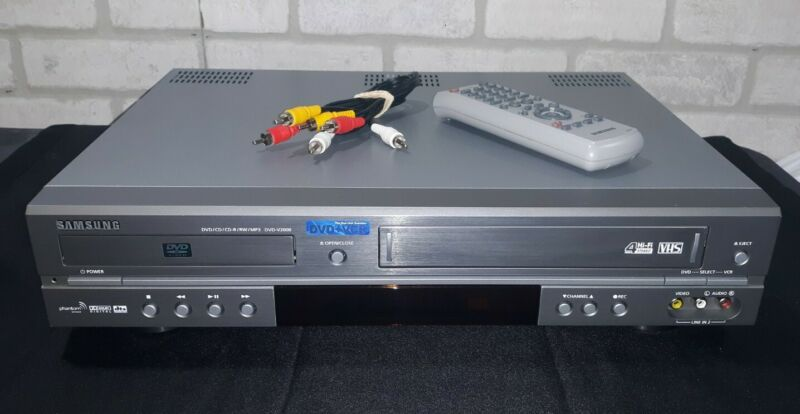Samsung DVD-V2000 DVD/VCR Player Recorder Combo 4 Head with Remote , TESTED