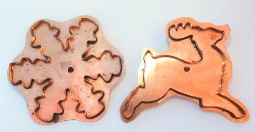 Martha Stewart Prancing Reindeer & Snowflake Large Copper Cookie Cutters