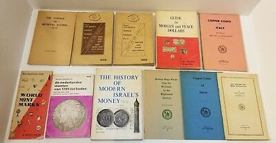 Lot of 11 Vintage European Coin Booklets and Pamphlets (Scott's Standard, etc.)
