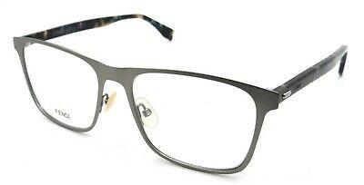 Fendi Rx Eyeglasses Frames FF M0010 R81 55-17-145 Matte Ruthenium Made in (Fendi Eyeglasses Men)