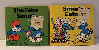 Smurf Vintage Childrens Softcover books 1981 lot 2 Peyo Smurfs The Fake Smurf