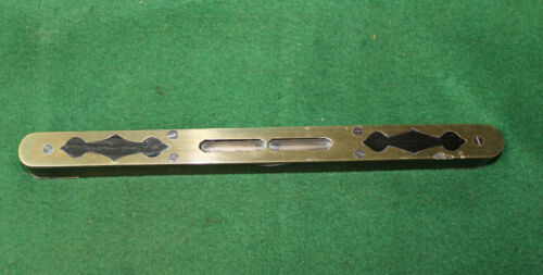"""FINE FANCY CONTINENTAL 10"""" ROSEWOOD & BRASS LEVEL  INV#HB105"""
