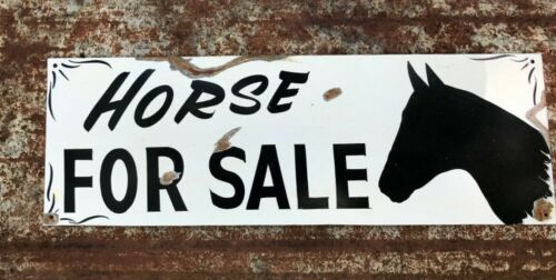 Vintage Western Ranch Primitive HORSE FOR SALE Barn Stable Painted Farm sign