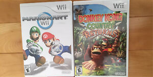 Jeux Donkey kong country returns et MarioKart Wii