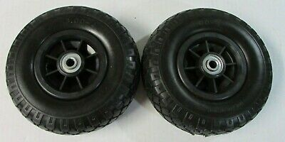 2-tubeless 9 Flat Free 3.00-4 Tire Wheel Hand Truck Tire Dolly 12 Id Bearing