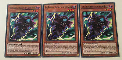 3 x The Phantom Knights of Silent Boots - LEHD-ENC02 1ST EDITION YuGiOh NEW