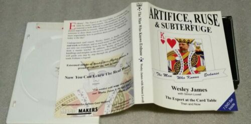 ARTIFICE, RUSE & SUBTERFUGE, WESLEY JAMES,The Expert at the Card Table 7 DVD set
