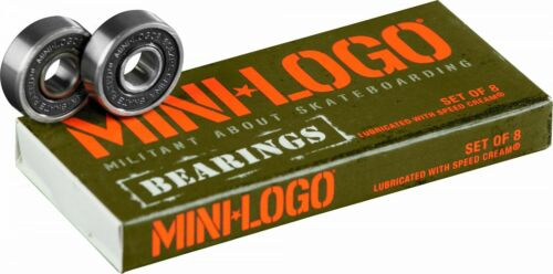 Mini Logo Precision Skate Rated Skateboard and Longboard Bearings (Pack of 8)