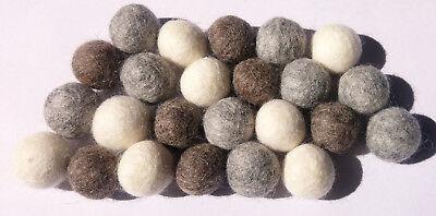 Natural colour Pom Pom Felt Balls 2 cm home Crafts Christmas Nursery garland DIY ()