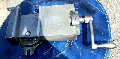 Vintage Milling Machine Vise W Swivel Base Mf D 3 Monogram Etched In