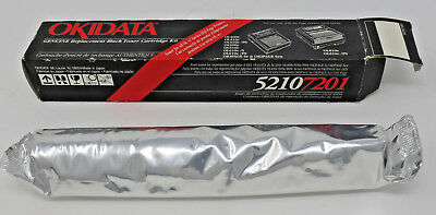 Okidata Black Laser Printer Toner Cartridge Kit 5210 7201 New in Box