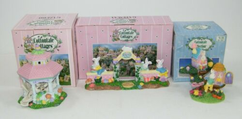 COTTONTALE COTTAGES EASTER TOWN GATEWAY, GAZEBO, TREE HOUSE VILLAGE ACCESSORIES