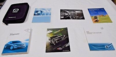 2010 MAZDA 6 OWNER MANUAL 7/PC.SET & BLACK MAZDA PREMIUM ZIPPERED CASE.FREE S