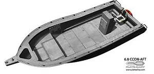 6.8m aluminium plate boat centre console bare hull only Carrum Downs Frankston Area Preview