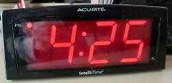 Acurite Intelli-time Auto Digital Alarm Clock Model #13003