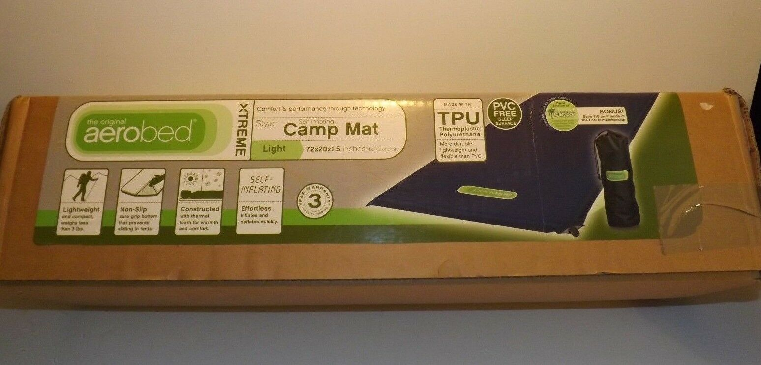 New Aerobed Xtreme Self-Inflating Light Weight Camp Mat Back
