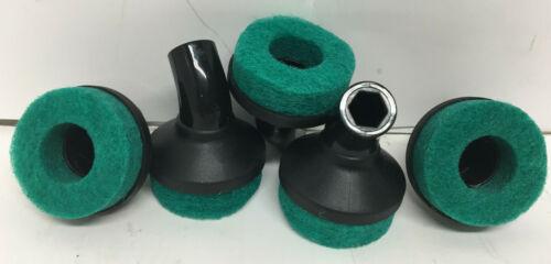 McCulloch Steam Cleaner A1230-007-5 Round Scrub Pad (5 Pack)